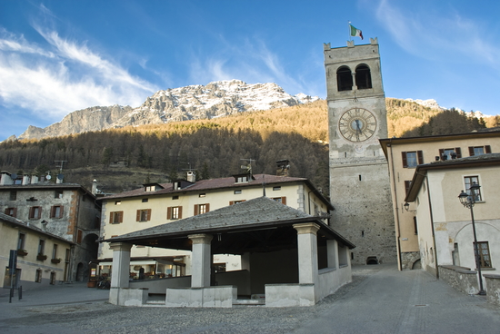 The Kuerc in the center of Bormio